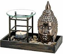 Duftlampe Buddha Keramik / Holz