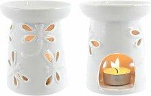 Duftlampe Keramik Libelle weiß 11cm?mit