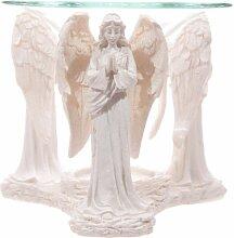 Duftlampe mit 3 betenden Engeln ~ Stuck-Optik