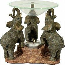 Duftlampe mit drei Elefanten Aromalampe