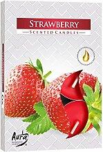 Duftteelicht 6er Display Strawberry
