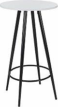 Duhome Bartisch aus Holz (MDF) Metall Stehtisch