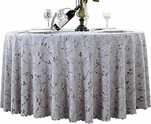 DUHUI Hotel runder Tisch Polyester Tischdecke