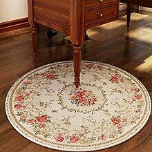 DUHUI Runde Teppich rutschfeste Tee Tischset