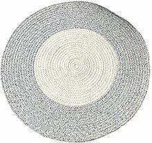 DUHUI Runder Teppich Handgestrickte Baumwolle