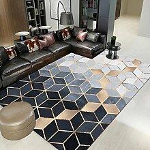 DUHUI Teppich-Einfache Geometrie-Rutschfeste