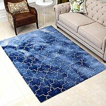 DUHUI Teppich-Haushalts-geometrische blaue
