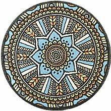 DUHUI Teppich Runde rutschfeste Multicolor