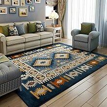 DUHUI Teppich rutschfeste verdicken blaue