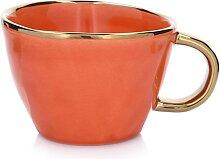 DUKA - Becher in Orange/ Gold - 300 ml