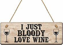 Duke Geschenke I Just Bloody Love Wein Funny