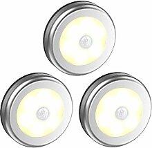 DULEE 3 Pack 6 LED Bewegungsmelder Nachtlicht