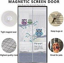DULPLAY Hände Frei Magnet fliegengitter Tür,