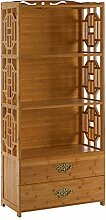 DULPLAY Vintage Massivholz Bücherregal Mit tür,