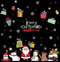 DULPLAY Weihnachten Windows Aufkleber, Santa Claus