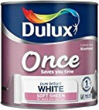 Dulux Glatte und cremige Dispersionsfarbe für Wände/Decken, 2,5l, Pures Brilliant Weiß