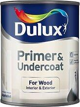 Dulux Grundierung und Unterlack für Holz, Weiß, weiß, 750ML