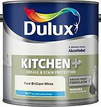 Dulux Küche + MATT Pure Brilliant Wandfarbe, matt weiß
