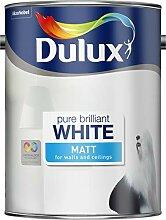 Dulux Pure Brilliant Wandfarbe, matt, Weiß