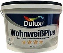 Dulux Wohnweiß Plus Wandfarbe & Deckenfarbe Weiß