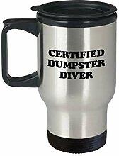 Dumpster Diving Travel Mug Funny Dumpster Tauchen