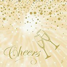 Duni Servietten Motiv Best Wishes Cream 40 x 40 cm