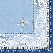 Duni Servietten Motiv Snowland 40 x 40 cm 50 Stück