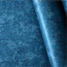 Dunkelblau Non woven retro Tapeten Schlafzimmer Wohnzimmer Hintergrund gang Farbe Tapete