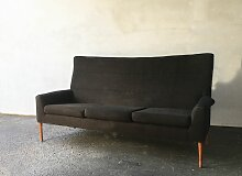 Dunkelbraunes Vintage Sofa