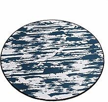 Dunkelgrau runde teppich / schlafzimmer runde kriechen pad / dicke 0,8 cm rutschfeste Nordic teppich / einfache kinder cartoon mat / computer stuhl teppich ( größe : Diameter 120cm )