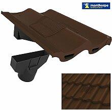 Dunkle Braune Doppelte Flachdachziegel Dach Fliese Vent & Adapter / Marley Redland Sandtof