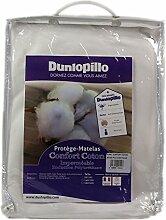 Dunlopillo Wasserdichter Matratzenschoner aus Baumwolle, weiß, 160x 200cm
