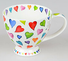 Dunoon Becher, Tasse Form Skye Warm Hearts für