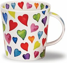 DUNOON Bone China Becher mit warm Hearts Design In Cairngorm Form