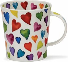DUNOON Bone China Becher mit warm Hearts Design In Lomond Form
