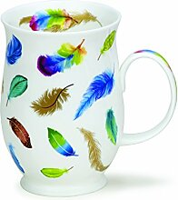 DUNOON Bone China Fantasy Feather Tasse - blau