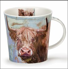 Dunoon Cairngorm Porzellan-Tasse, mit gemaltem