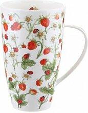 Dunoon Henley Bute Porzellanbecher - Dovedale Strawberry