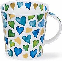 Dunoon Lovehearts Tasse eines Porzellan blaue