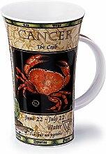 Dunoon Porzellan-Tasse mit Sternzeichen-Krebs,