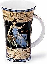 DUNOON Porzellan-Tasse mit Sternzeichen, Waage,