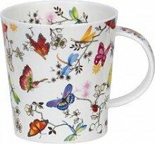 Dunoon Porzellanbecher Lomond - Paradise Bereich mit bunten Schmetterlingen design