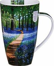 Dunoon Pottery Becher mit Glockenblumen-Motiv–Henley-Form
