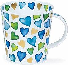 Dunoon Tasse aus feinem Porzellan, Herzmotiv,