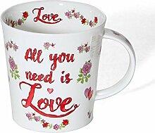Dunoon Tasse aus feinem Porzellan, Lomond-Form,