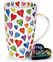 Dunoon Tasse aus Knochenporzellan, Herz-Motiv