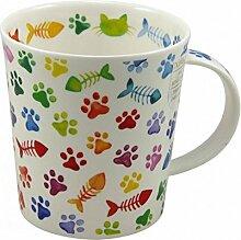 Dunoon Tasse Lomond Pawprints Cats 320ml