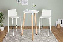 DuNord Design Bartisch Stehtisch weiß 105cm