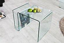 DuNord Design Beistelltisch Glastisch