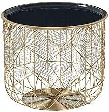 DuNord Design Beistelltisch Gold grau 36cm Metall